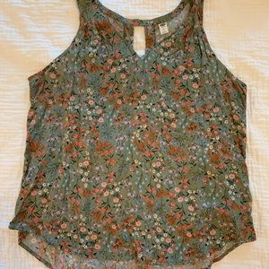 Old Navy Sleeveless Floral Blouse